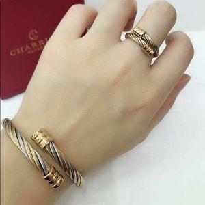 Tri-color bracelet and ring